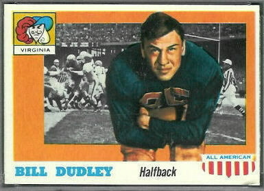 Bill Dudley 1955 Topps All-American football card