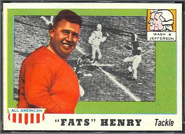 Fats Henry 1955 Topps All-American football card