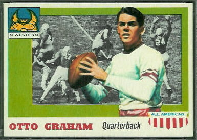 Otto Graham 1955 Topps All-American football card