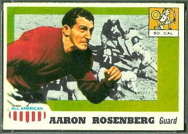 Aaron Rosenberg 1955 Topps All-American football card