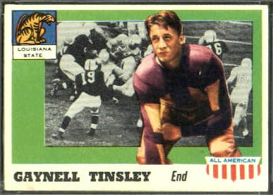 Gaynell Tinsley 1955 Topps All-American football card
