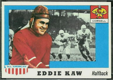 Eddie Kaw 1955 Topps All-American football card