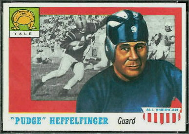 Pudge Heffelfinger 1955 Topps All-American football card