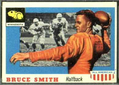 Bruce Smith 1955 Topps All-American football card