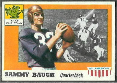 Sammy Baugh 1955 Topps All-American football card