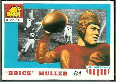 Brick Muller 1955 Topps All-American football card