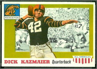 Dick Kazmaier 1955 Topps All-American football card