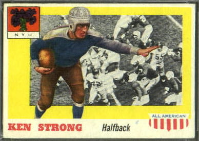 Ken Strong 1955 Topps All-American football card