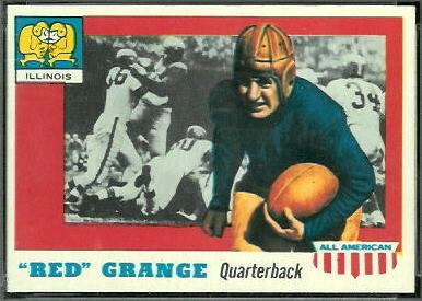 Red Grange 1955 Topps All-American football card