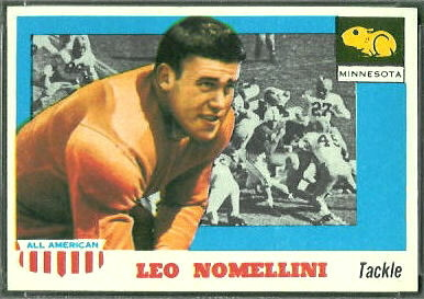 Leo Nomellini 1955 Topps All-American football card