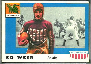 Ed Weir 1955 Topps All-American football card