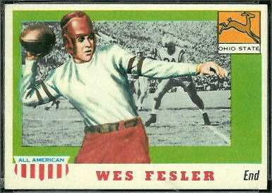 Wes Fesler 1955 Topps All-American football card