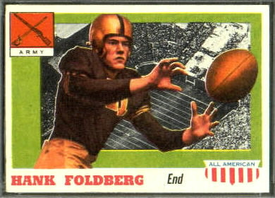 Hank Foldberg 1955 Topps All-American football card