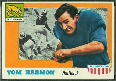 Tom Harmon 1955 Topps All-American football card