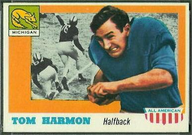 Tom Harmon 1955 Topps All-American football card