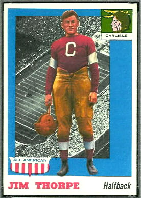 Jim Thorpe 1955 Topps All-American football card