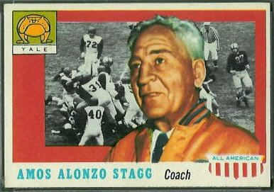 Amos Alonzo Stagg 1955 Topps All-American football card