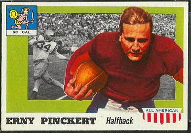 Erny Pinckert 1955 Topps All-American football card