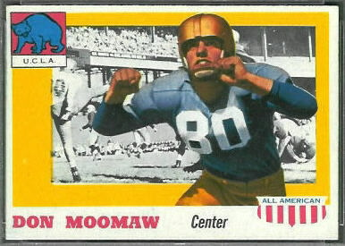 Donn Moomaw 1955 Topps All-American football card