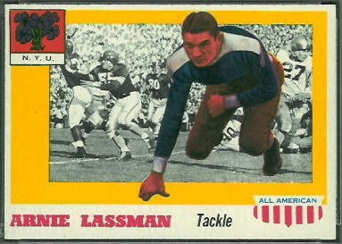 Arnie Lassman 1955 Topps All-American football card