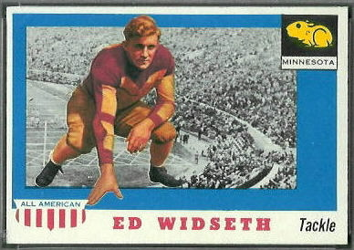 Ed Widseth 1955 Topps All-American football card