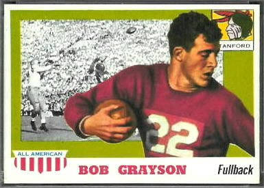 Bob Grayson 1955 Topps All-American football card