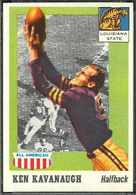 Ken Kavanaugh 1955 Topps All-American football card
