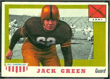 Jack Green 1955 Topps All-American football card
