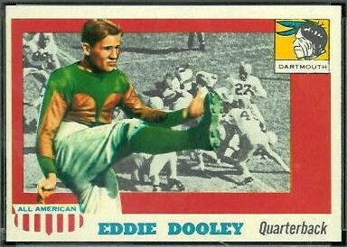 Eddie Dooley 1955 Topps All-American football card