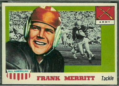 Frank Merritt 1955 Topps All-American football card