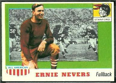 Ernie Nevers 1955 Topps All-American football card