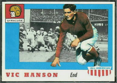 Vic Hanson 1955 Topps All-American football card