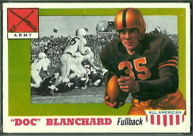 Doc Blanchard 1955 Topps All-American football card