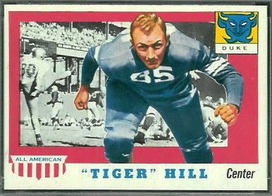 Tiger Hill 1955 Topps All-American football card