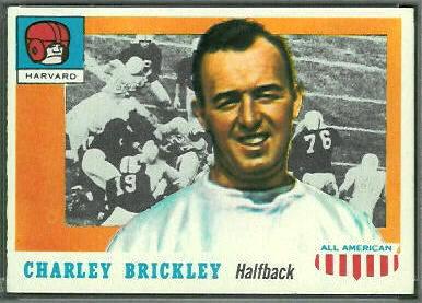 Charley Brickley 1955 Topps All-American football card