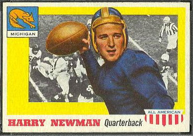 Harry Newman 1955 Topps All-American football card