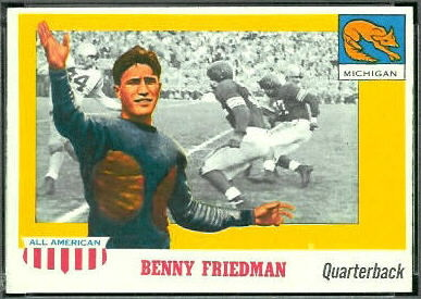 Benny Friedman 1955 Topps All-American football card