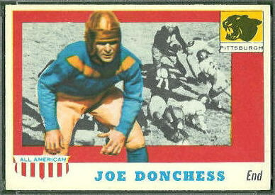 Joe Donchess 1955 Topps All-American football card