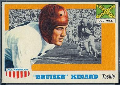 Bruiser Kinard 1955 Topps All-American football card