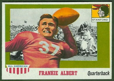 Frankie Albert 1955 Topps All-American football card
