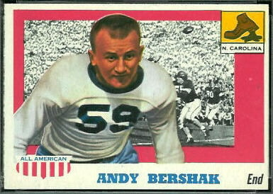 Andy Bershak 1955 Topps All-American football card