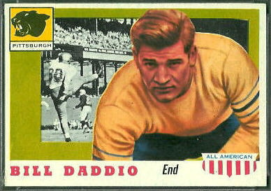 Bill Daddio 1955 Topps All-American football card