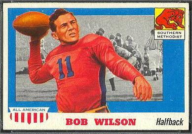 Bob Wilson 1955 Topps All-American football card