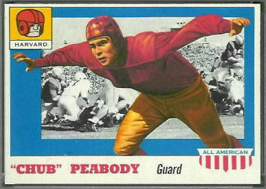 Chub Peabody 1955 Topps All-American football card