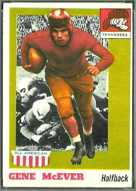 Gene McEver 1955 Topps All-American football card