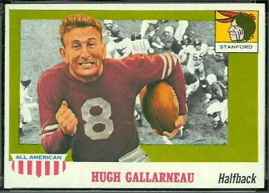 Hugh Gallarneau 1955 Topps All-American football card