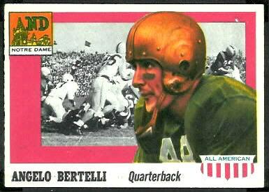 Angelo Bertelli 1955 Topps All-American football card