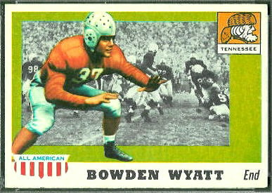 Bowden Wyatt 1955 Topps All-American football card