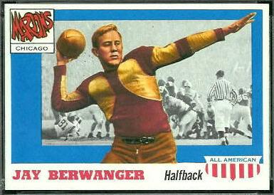 Jay Berwanger 1955 Topps All-American football card