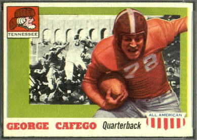 George Cafego 1955 Topps All-American football card